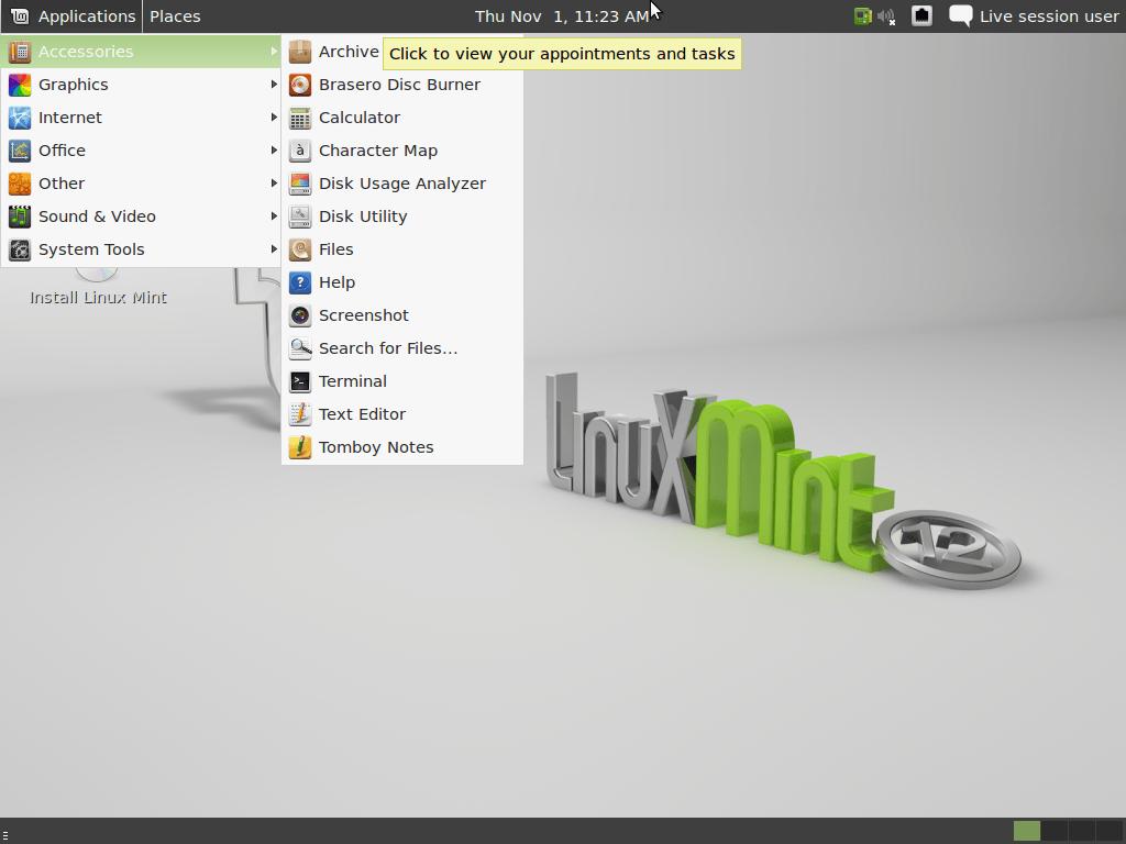 Linux Mint 12 (Lisa - Nov, 2011) All Editions (32-bit, 64