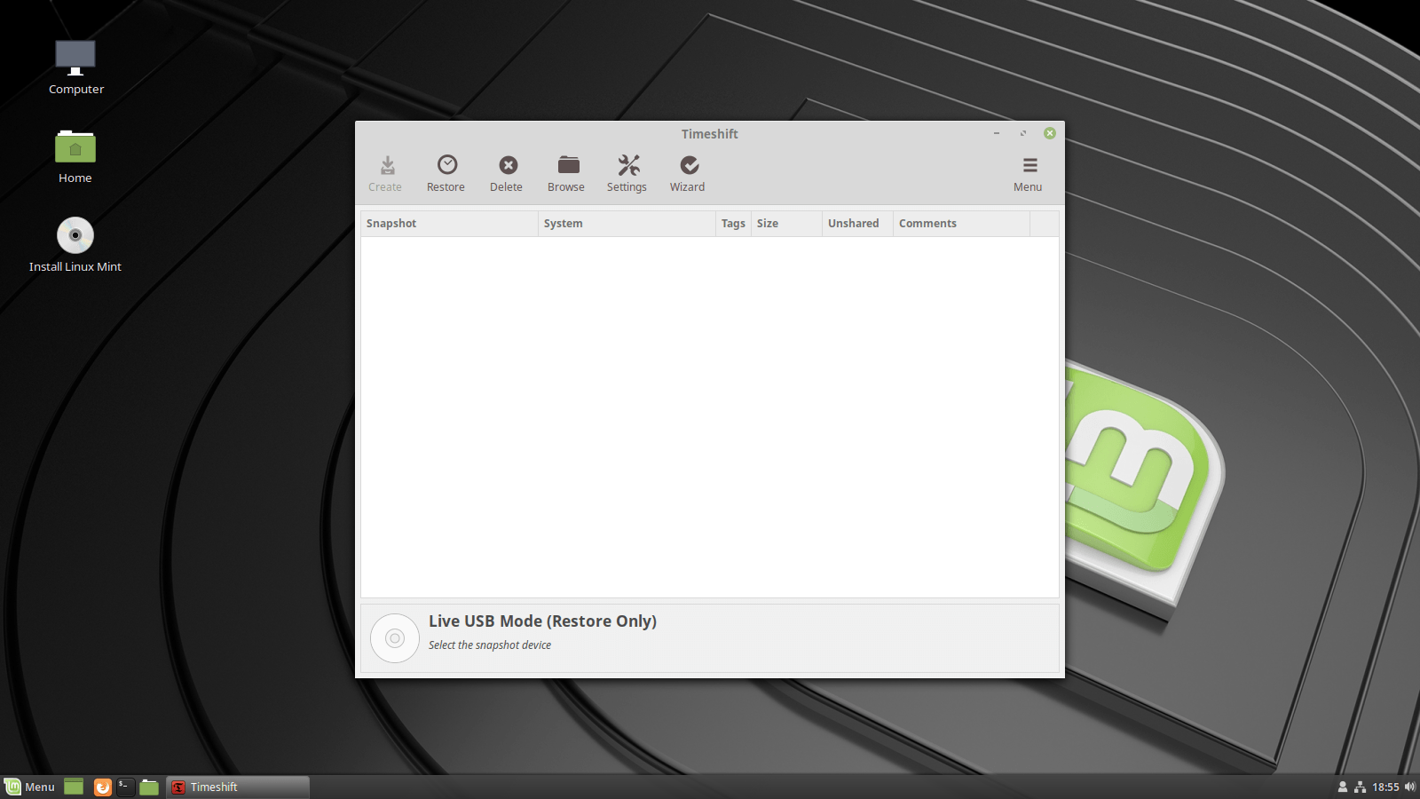 linux mint 19 iso to usb