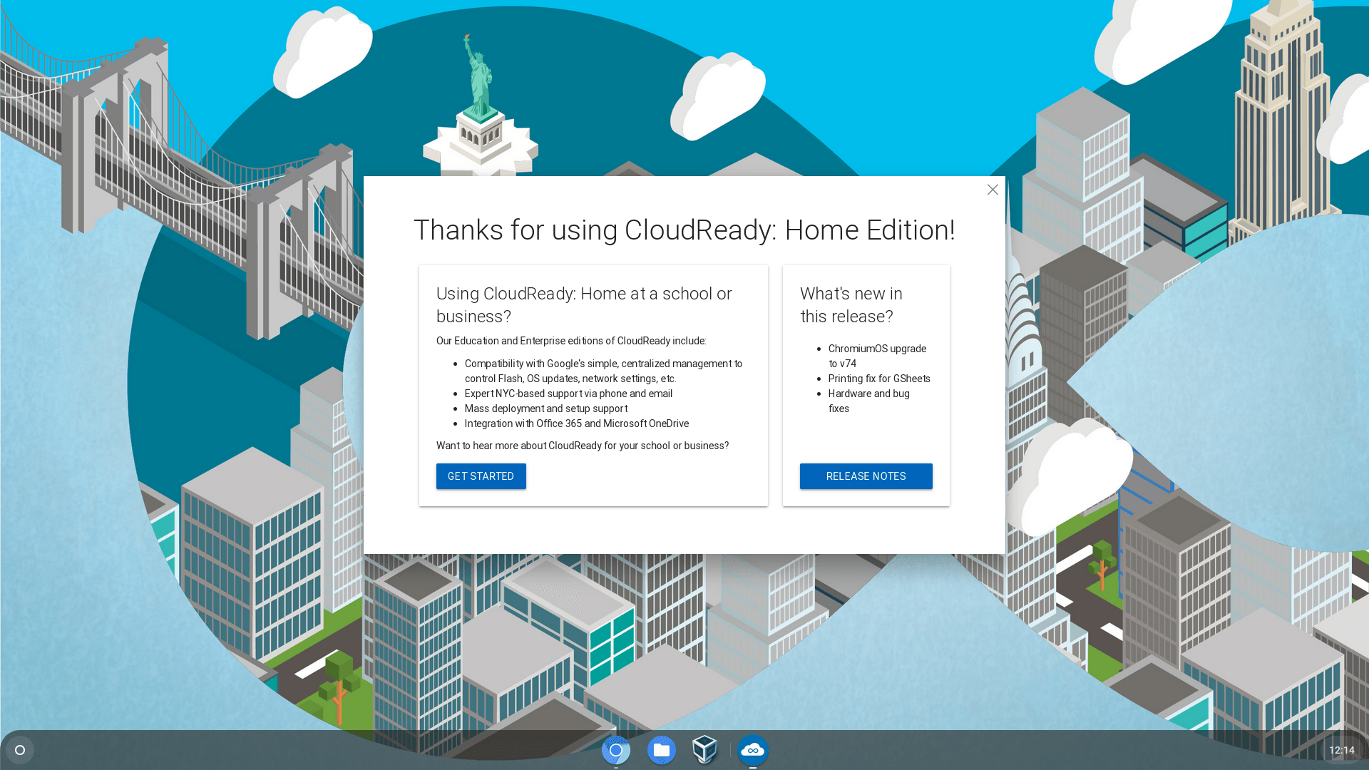 CloudReady 74 3 Stable Home Edition (May, 2019) 32-bit, 64-bit ISO