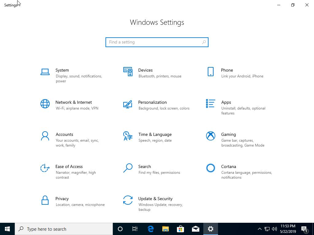 Windows 10 1903 (May 2019 Update) Home & Pro 32 / 64 Bit